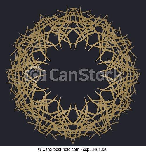 round ornament on dark background template of decorative vectors