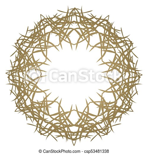 round ornament on white background template of decorative frame