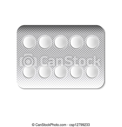 Round Pills in a blister pack - csp12799233
