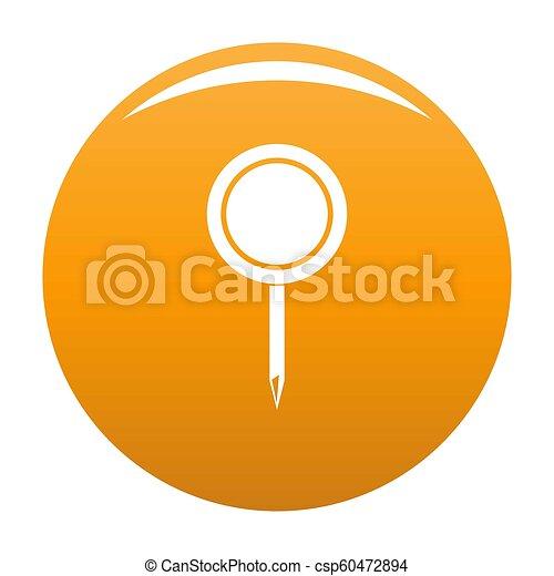 Round pin icon orange - csp60472894