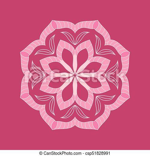 Round pink flower eps vectors search clip art illustration round pink flower csp51828991 mightylinksfo