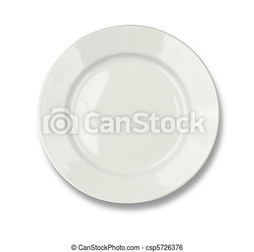 Round plate isolated on white included - csp5726376