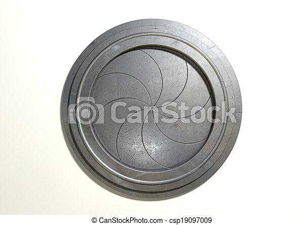 Round Portal Futuristic Door - csp19097009  sc 1 st  Can Stock Photo & Round portal futuristic door. A futuristic round mechanical... stock ...