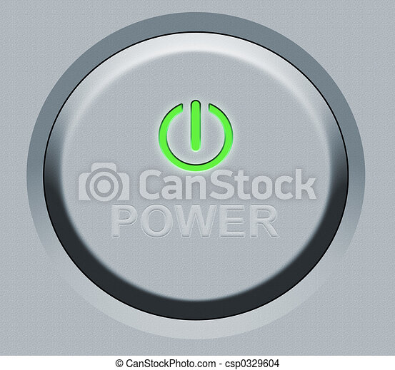 Round Power Button - csp0329604