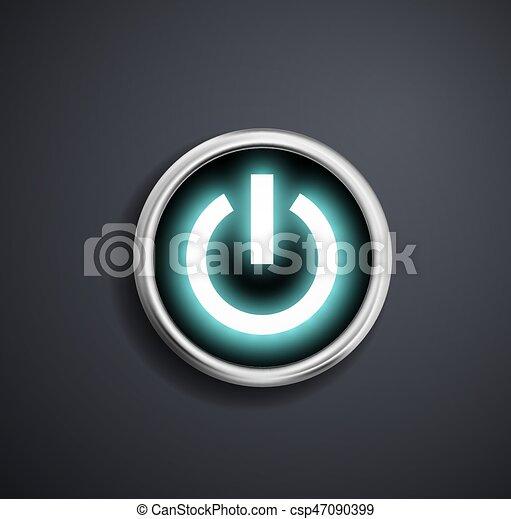 Round power button. - csp47090399