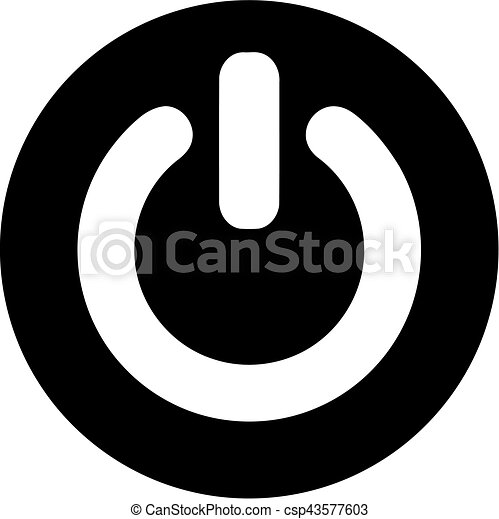 Round Power button - csp43577603