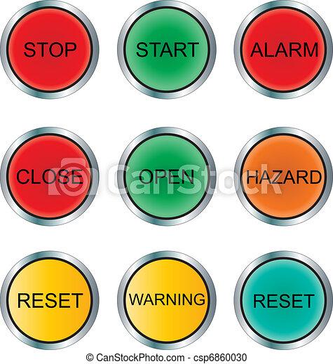 Round Pushbutton and Indicator Set - csp6860030