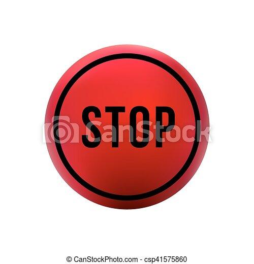 round red button stop - csp41575860