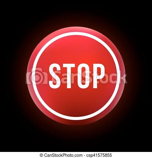 round red button stop - csp41575855
