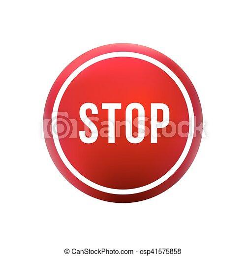 round red button stop - csp41575858