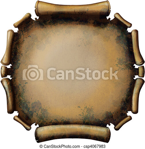 Round Rusty Scroll - csp4067983