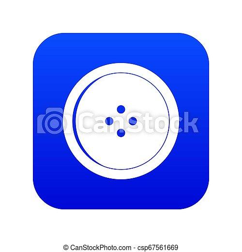 Round sewing button icon digital blue - csp67561669