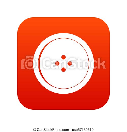 Round sewing button icon digital red - csp57130519