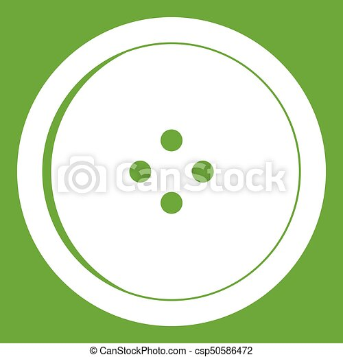 Round sewing button icon green - csp50586472