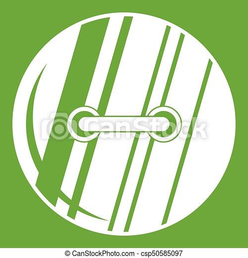 Round sewn button icon green - csp50585097