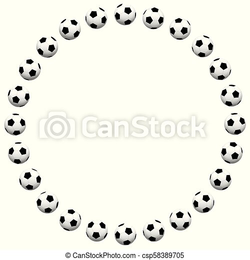 Round soccer ball frame. Round soccer ball frame. isolated vector ...