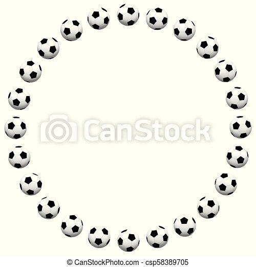 Round soccer ball frame. isolated vector illustration on... vector ...