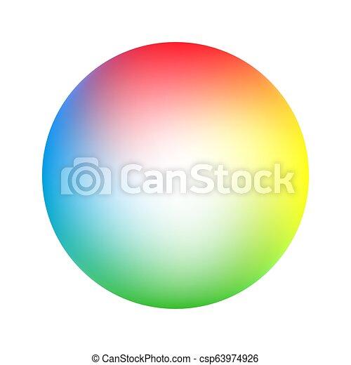 Round soft color gradient - csp63974926