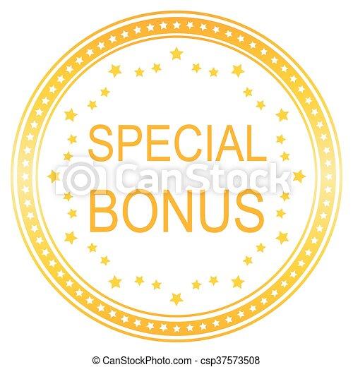 round special bonus button - csp37573508