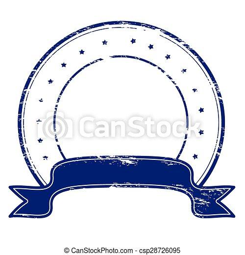 Round stamp - csp28726095