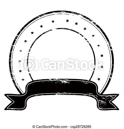 Round stamp - csp28726285