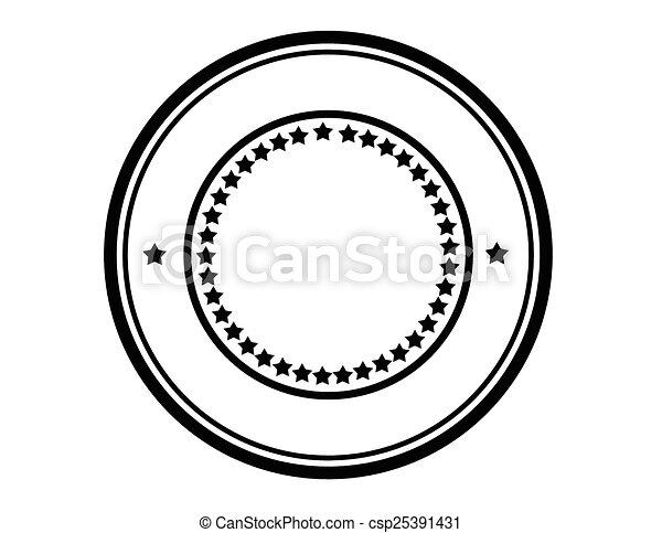 Round stamp - csp25391431