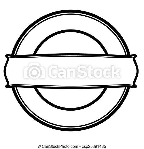 Round stamp - csp25391435