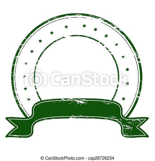 Round stamp - csp28726234