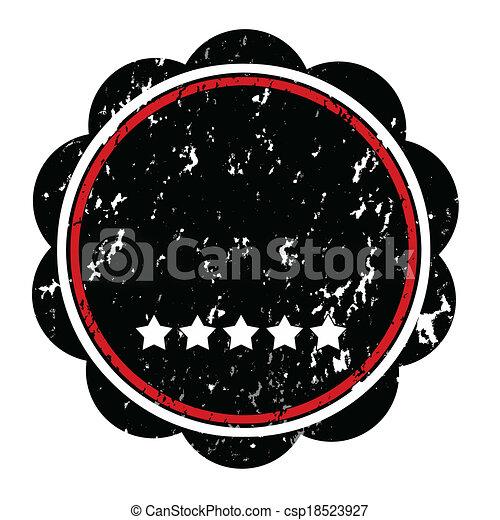 round stamp - csp18523927