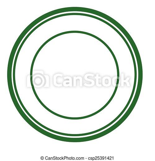 Round stamp - csp25391421