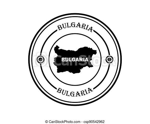 round stamp of bulgaria - csp90542962
