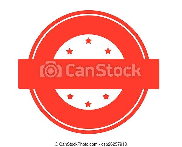 Round stamp - csp26257913