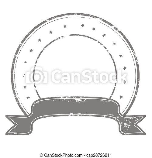 Round stamp - csp28726211