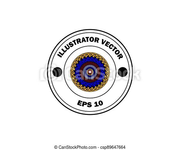 round stamp with inscription - csp89647664