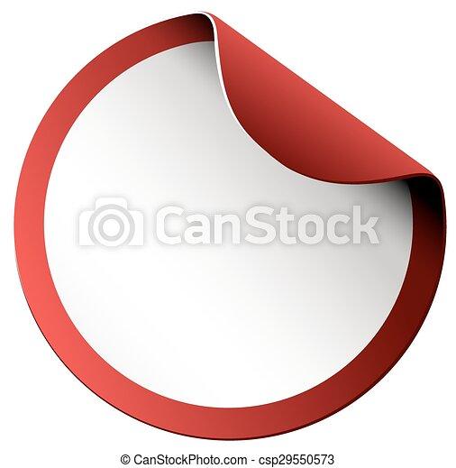 Round sticker on white - csp29550573