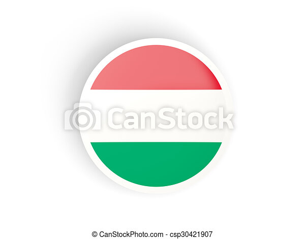 Round sticker with flag of hungary csp30421907