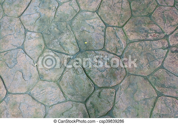 Round Stone With Moss Floor Texture Background Patio Pavers Circle