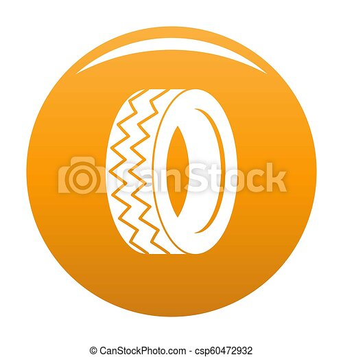 Round tire icon orange - csp60472932