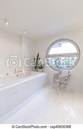 Round Window In Bathroom   Csp40630368
