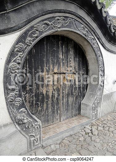 Round Wooden Door   Csp9064247