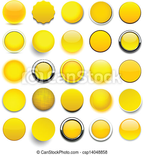 Round yellow icons. - csp14048858