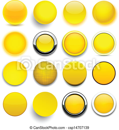 Round yellow icons. - csp14707139