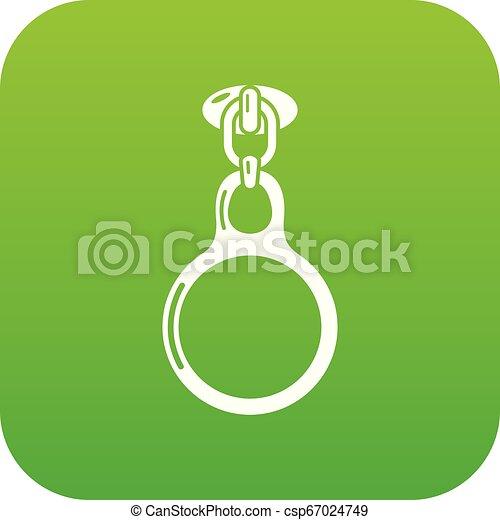 Round zip icon, simple style - csp67024749