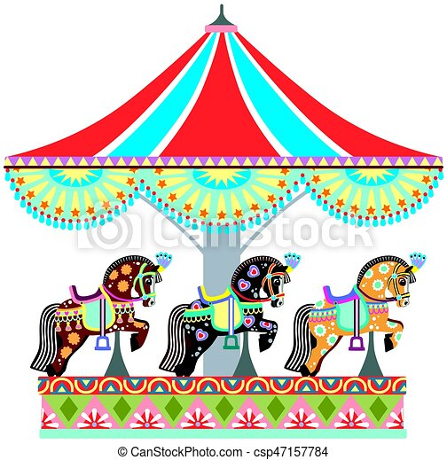 roundabout horse carousel cartoon circus roundabout vector rh canstockphoto com carousel clipart free carousel clipart images