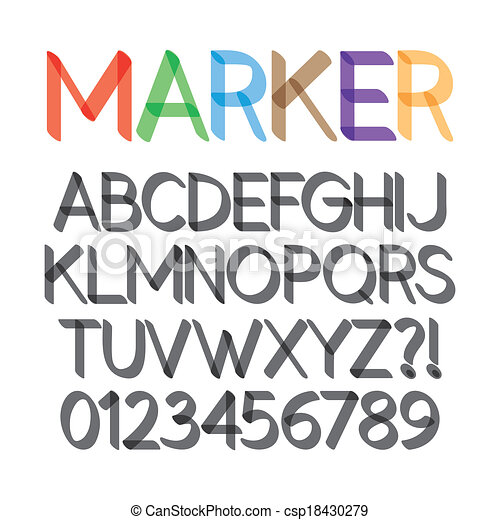 Rounded Bold Marker Pen Font - csp18430279