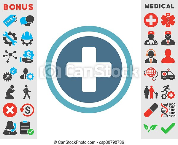 Rounded Cross Icon Rounded Cross Vector Icon Style Is Bicolor Flat