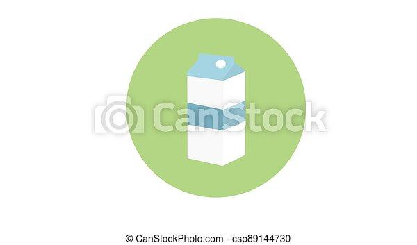 Rounded Milk Box Icon - csp89144730