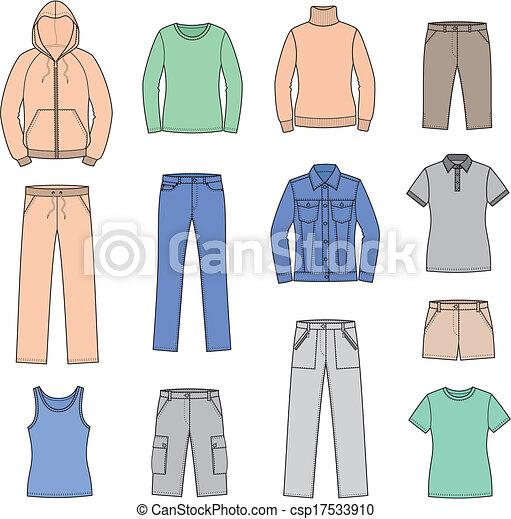 roupas casuais - csp17533910