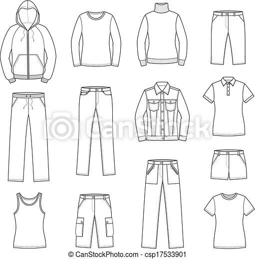 roupas casuais - csp17533901