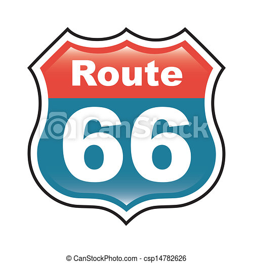 route 66 label over white background vector illustration vector rh canstockphoto com route 66 clip art images route 66 clipart free